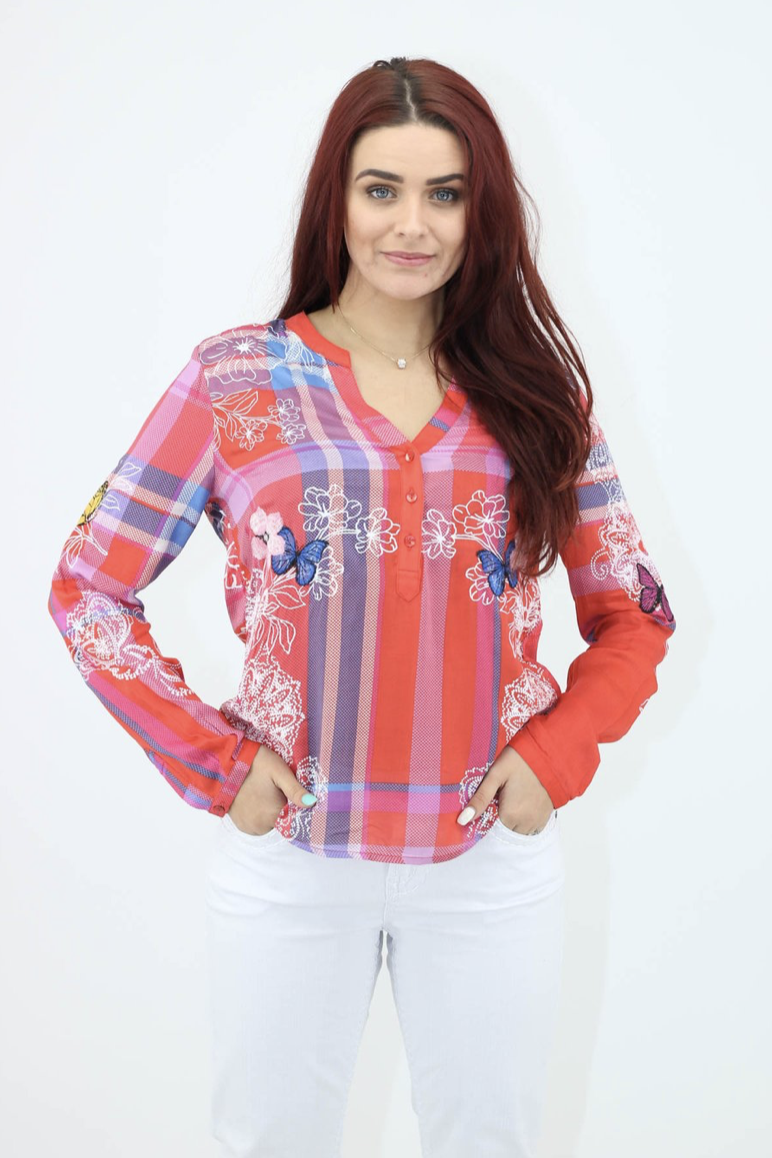 Maisey Long Sleeve Blouse by Desigual - Pizazz Boutique