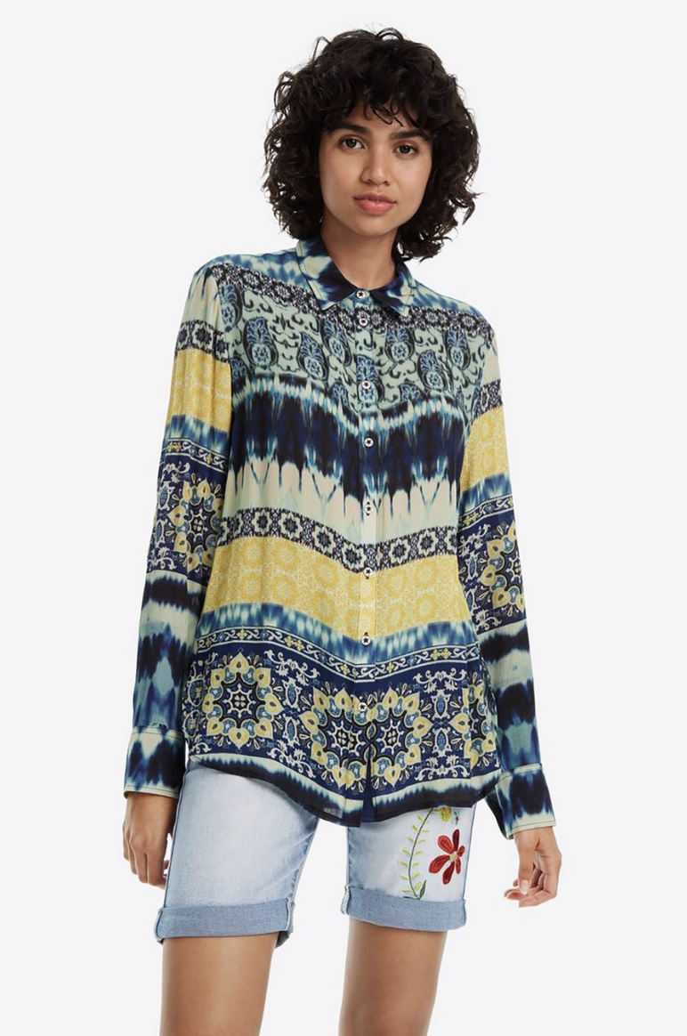 Harper Long Sleeve Shirt by Desigual - Pizazz Boutique