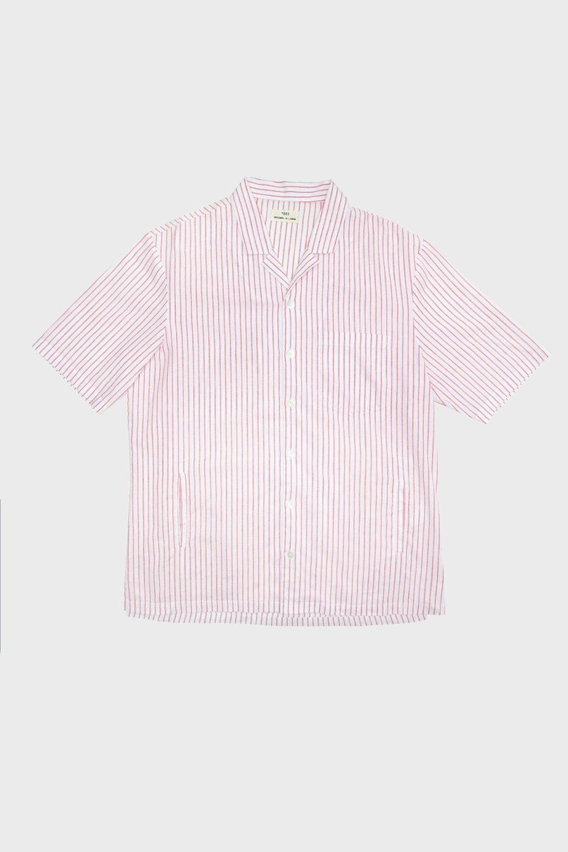 Coral Stripes Shirt