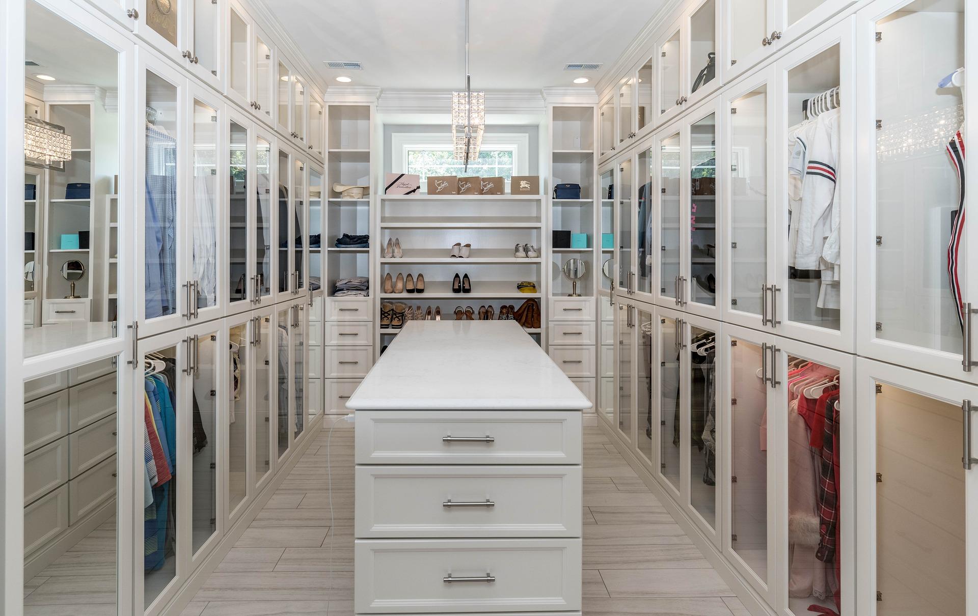 A luxury closet