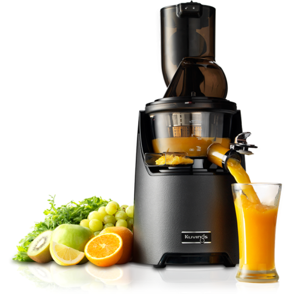 image of kuvings juicer making orange juice