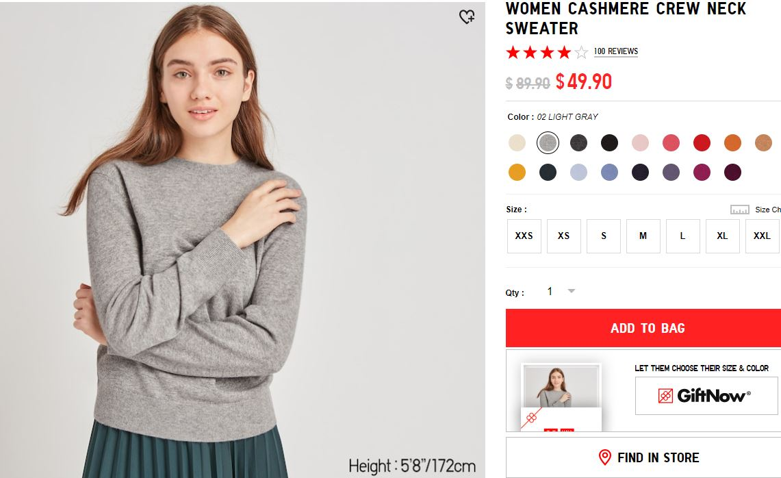 Uniqlo cashmere on sale