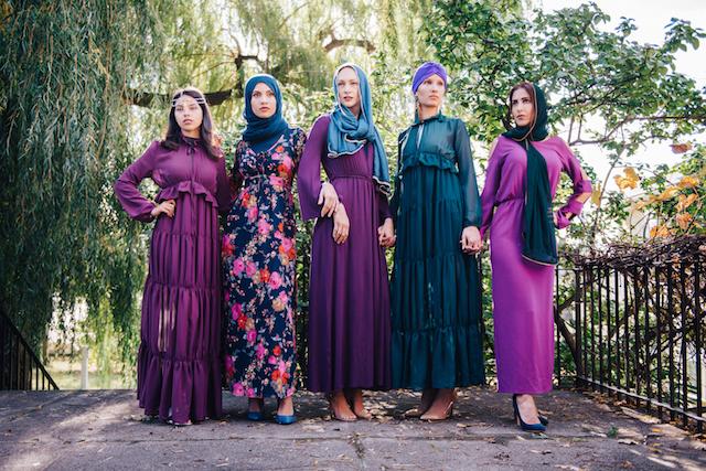 purple and blues fashion