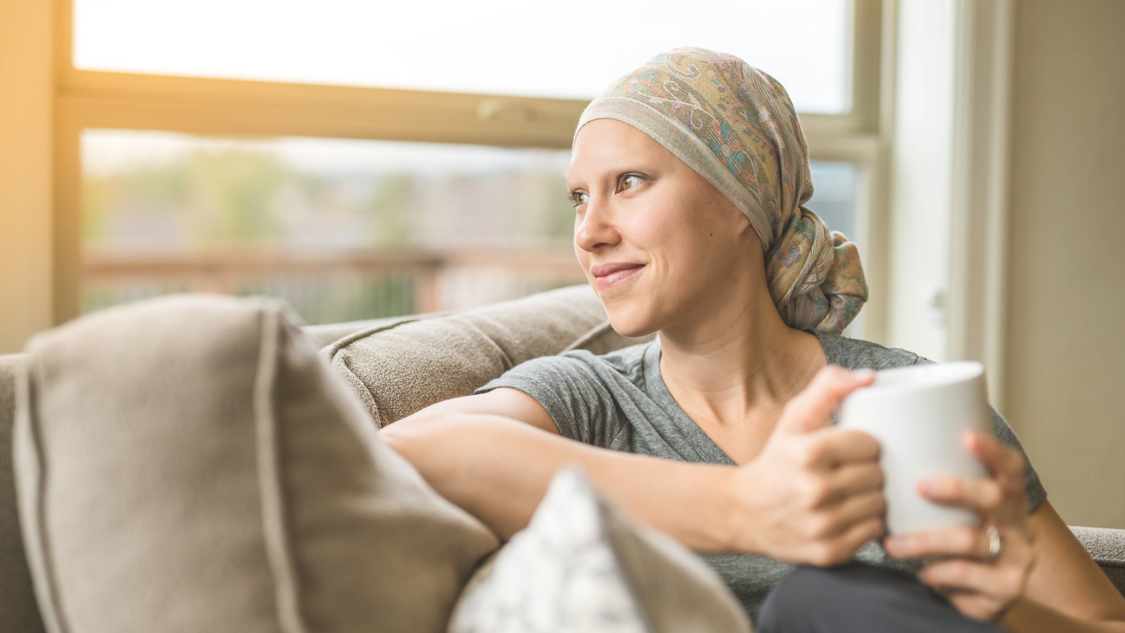 Woman dealing with cancer