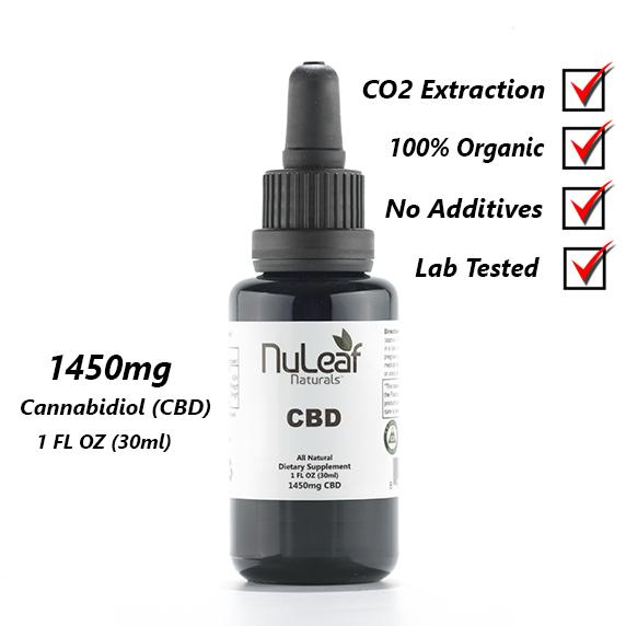 NuLeaf Naturals CBD Oil 1450mg for Alzheimer's disease