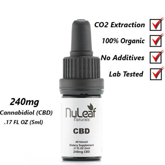 NuLeaf Naturals 240mg Decarboxylated CBD OIL