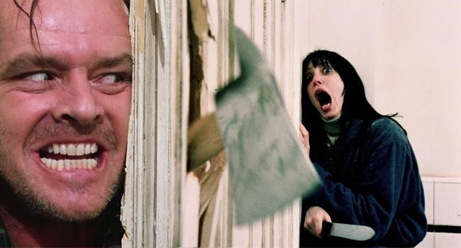 """Here's Johnny!"" Scene from The Shining"