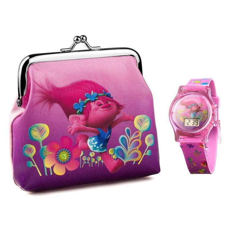 Trolls Poppy Watch and Purse Gift Set