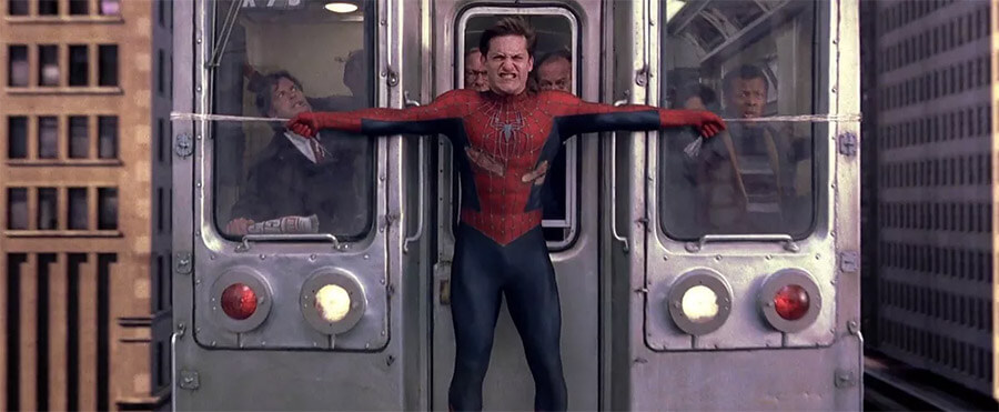 Spider-Man Stops a Train