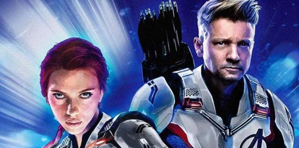 Hawkeye and Black Widow from Avengers Endgame