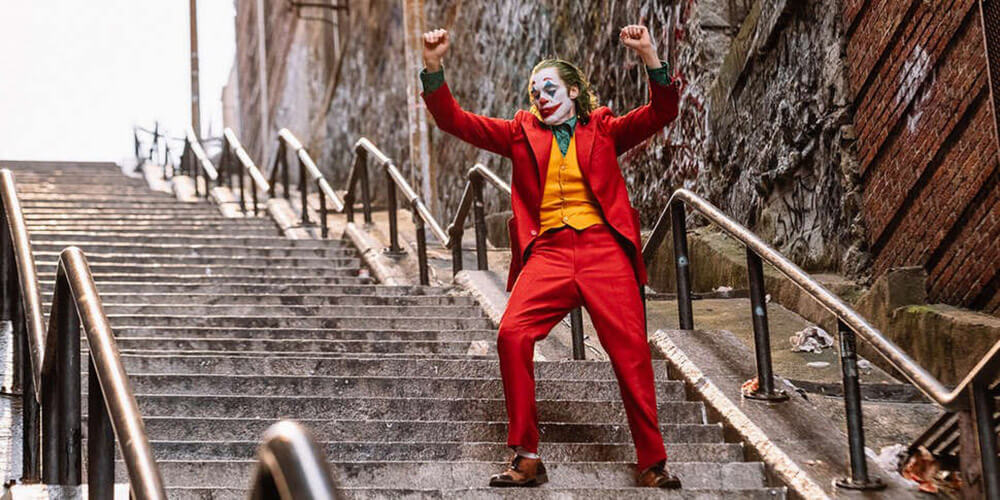 2019 The Joker, Dancing Down the Stairs