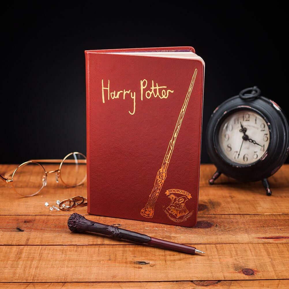 Officially Licensed Harry Potter Notebook and Wand Set