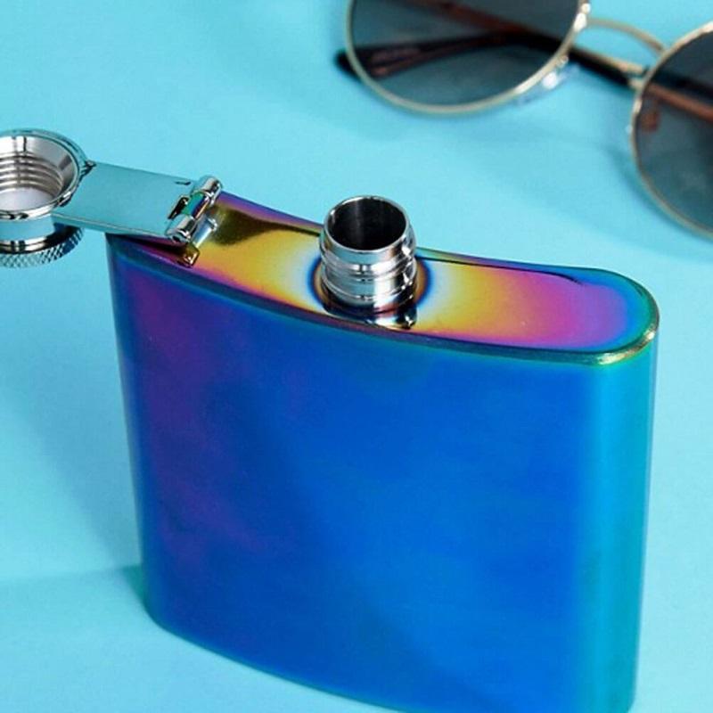 Iridescent Hip Flask