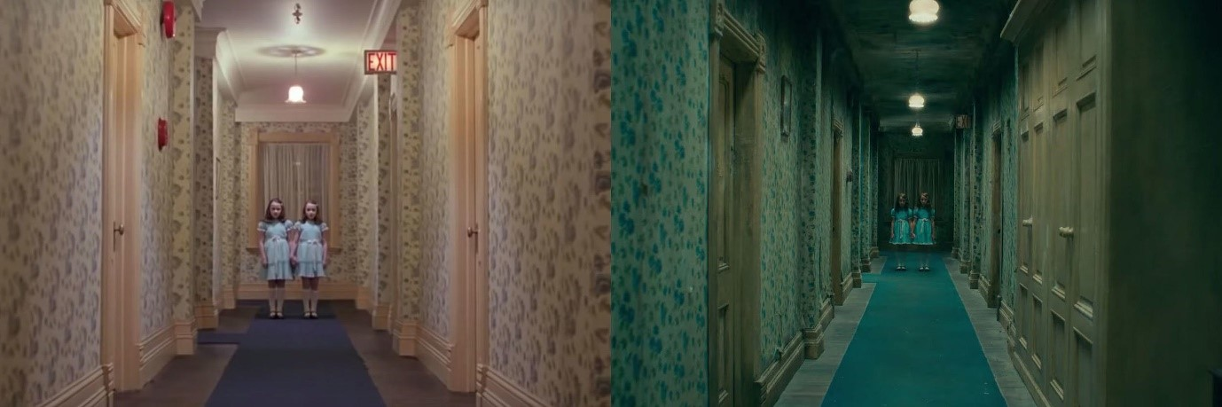 The Shining Hallway Scene