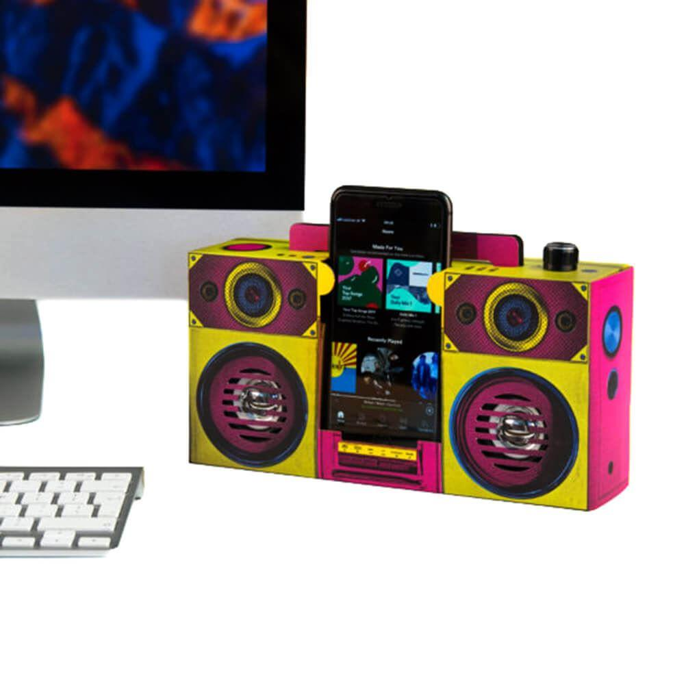 Colourful Retro Style Boombox