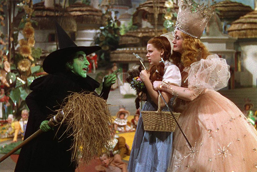 Wicked Witch of the West, Dorothy and Glinda the Good