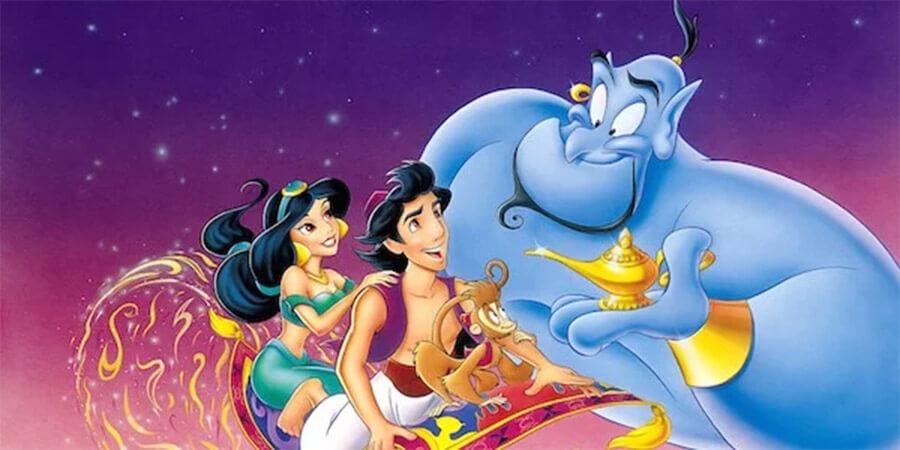 Jasmine, Aladdin and Genie