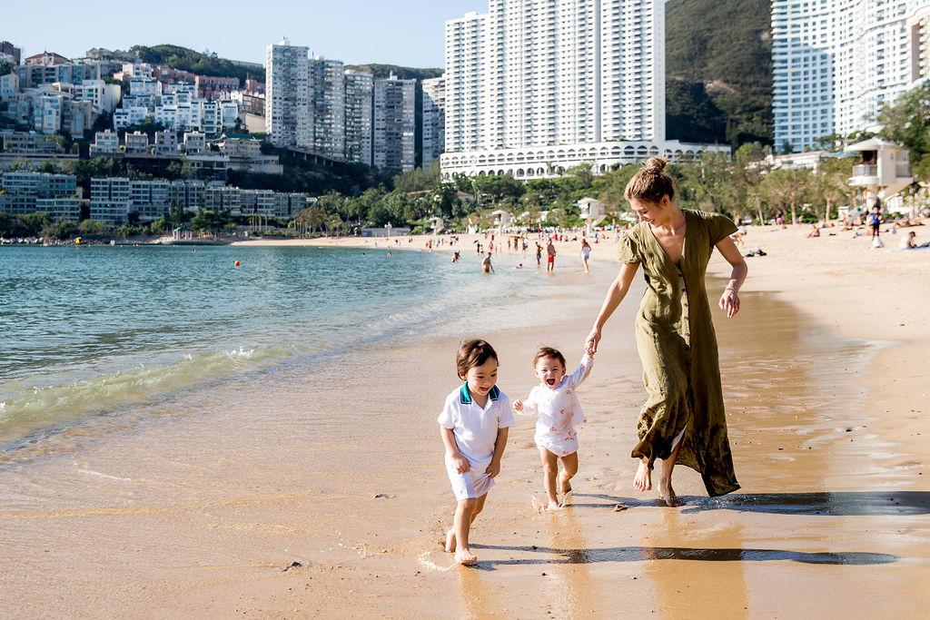 Alison Chan El Azar and children Kaia and Khalil
