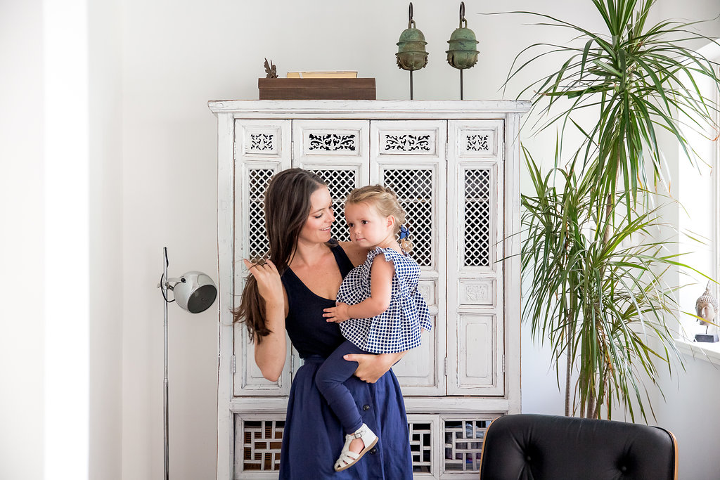 Sarah Garner, founder of Retykle with her daughter Olympia