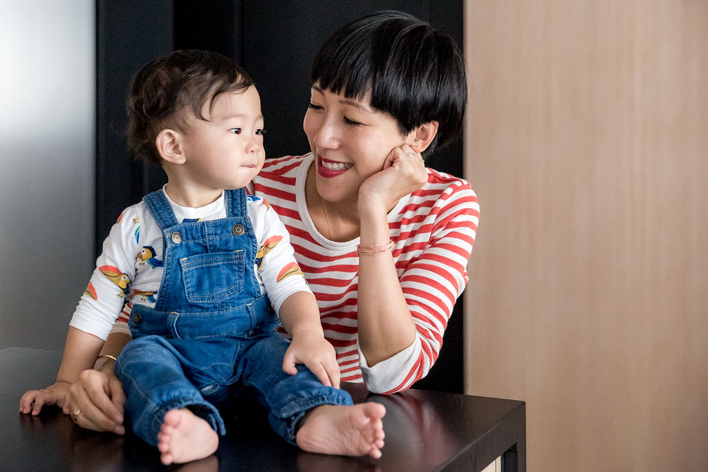 Denise Ho, founder of Knotti, designer for Redress and stylist with her son