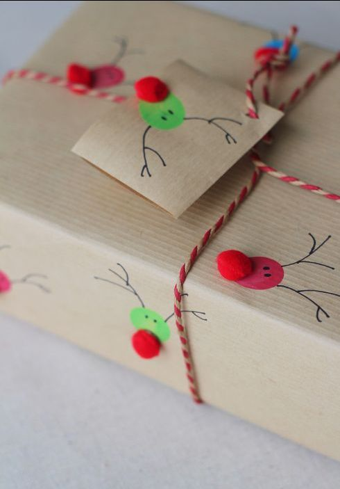Get creative with the kids and make your own Christmas gift wrapping