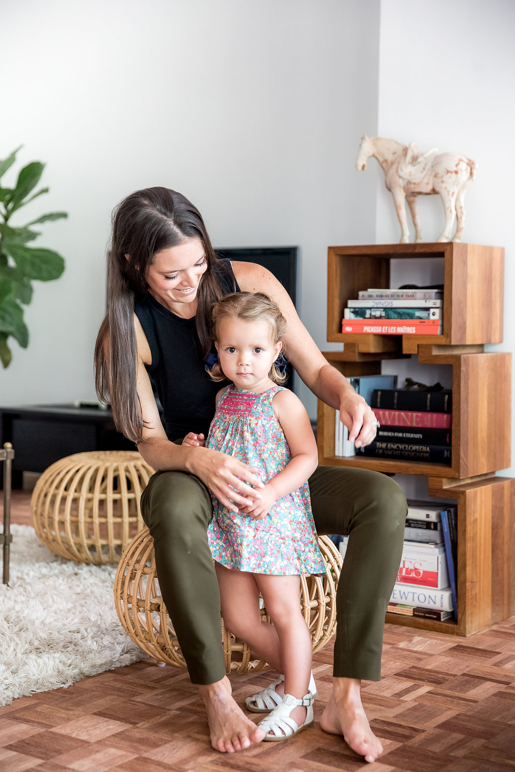 Sarah Garner, founder of Retykle with daughter Olympia