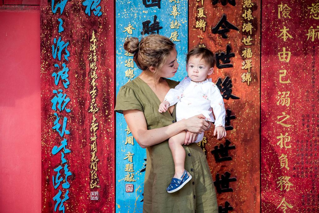 Alison Chan El Azar and daughter Kaia
