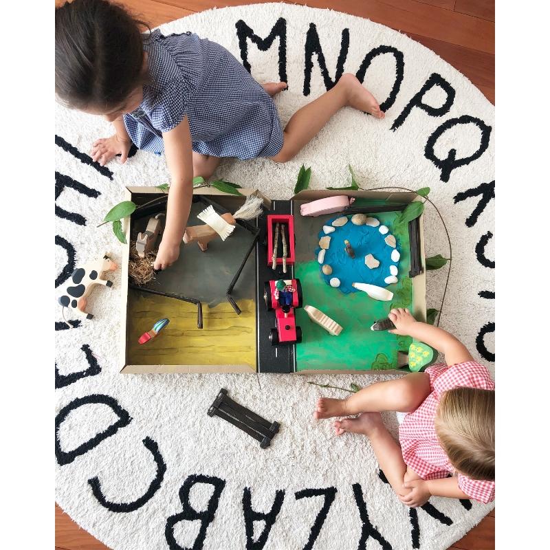 Ann-Marie's kids play with their Farmyard Playbox