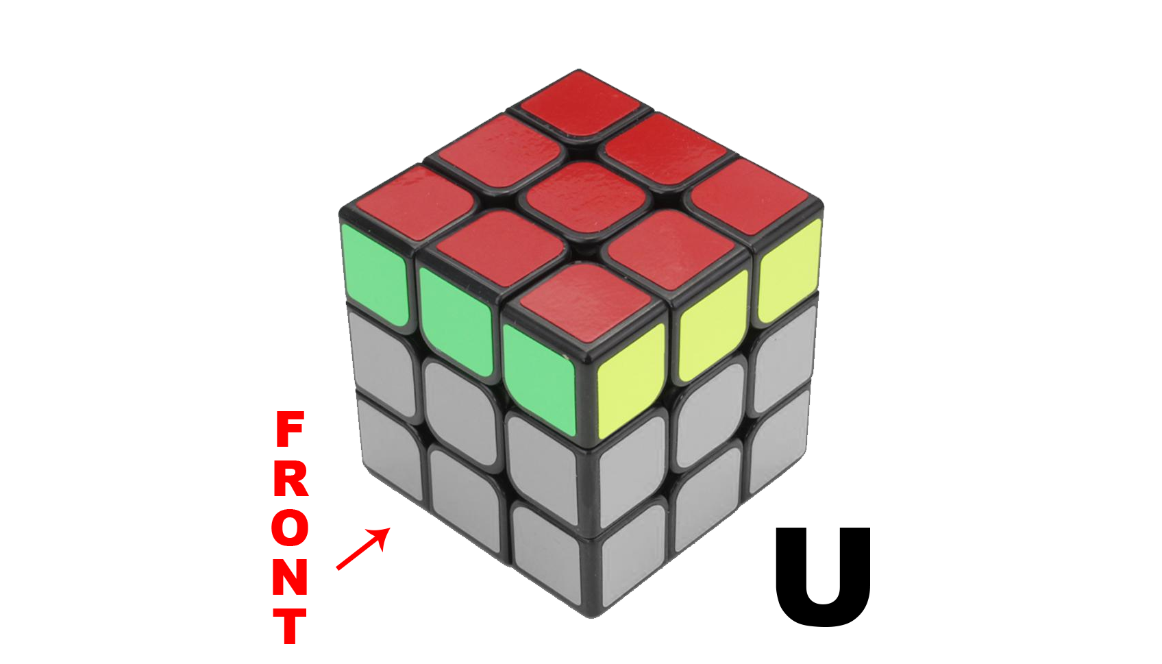 Rubik's Cube Notation - U and U' - KewbzUK Beginners Method Tutorial
