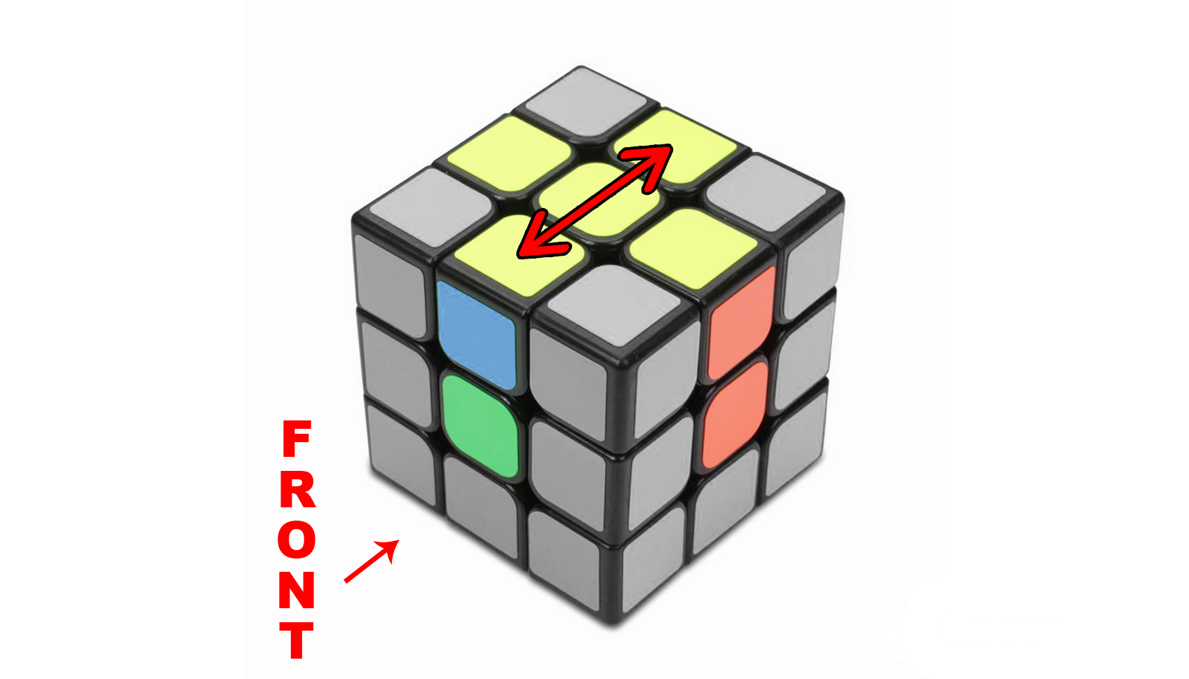 How to solve a Rubik's 3x3 - Step 1 - The Cross - Step 1c