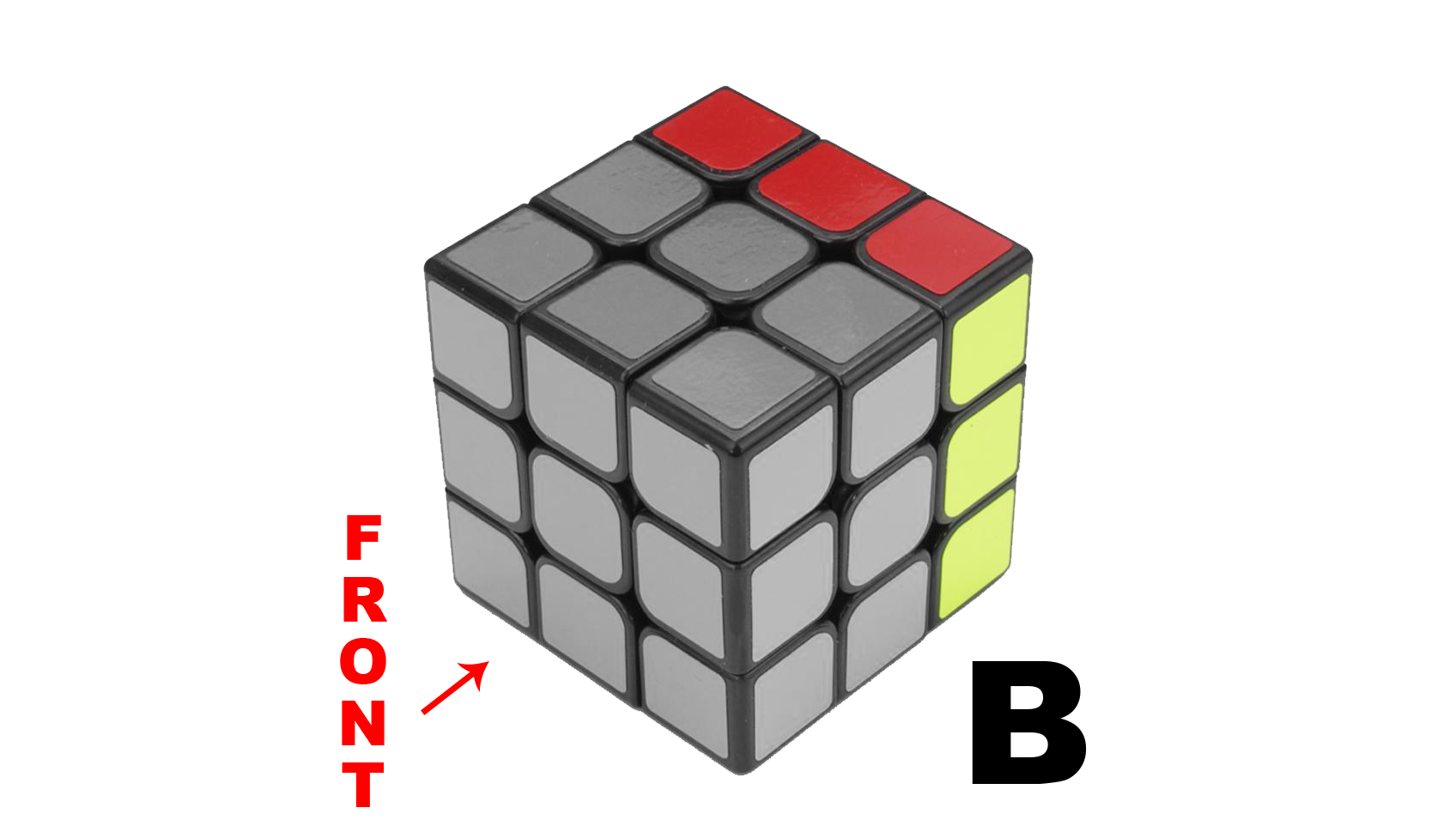 Rubik's Cube Notation - B and B' - KewbzUK Beginners Method Tutorial
