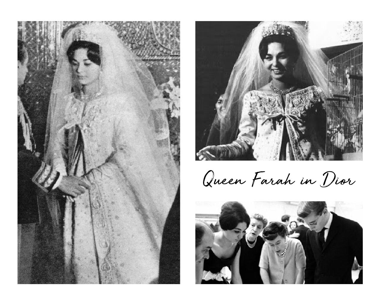 Farah Pahlavi in Dior.