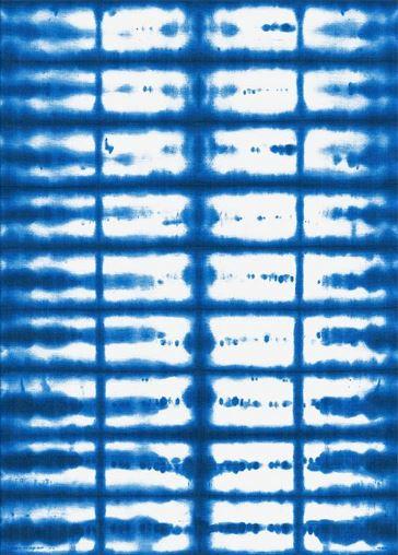 Blue Rug - Shibori Indigo San