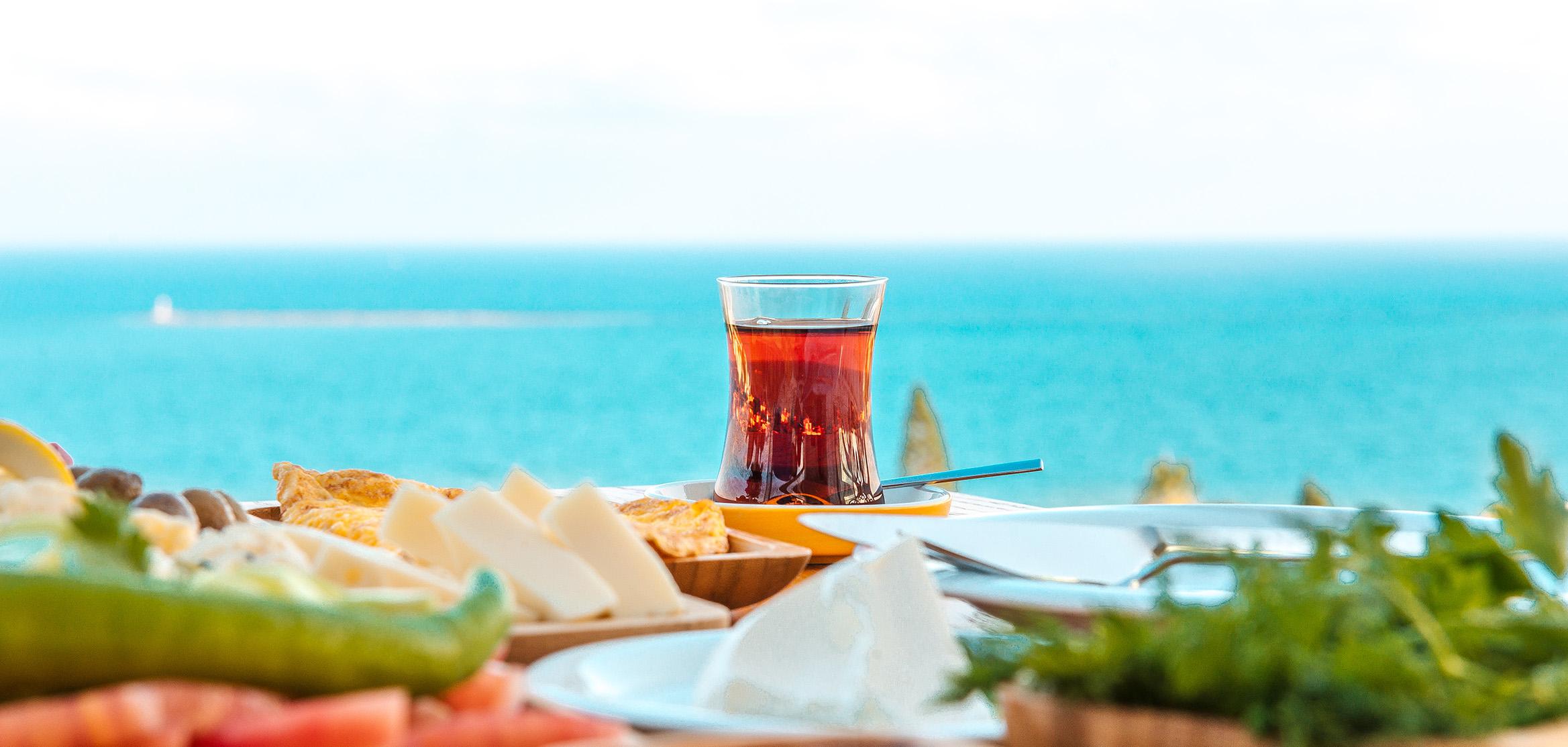 Turkish Tea at Breakfast Table