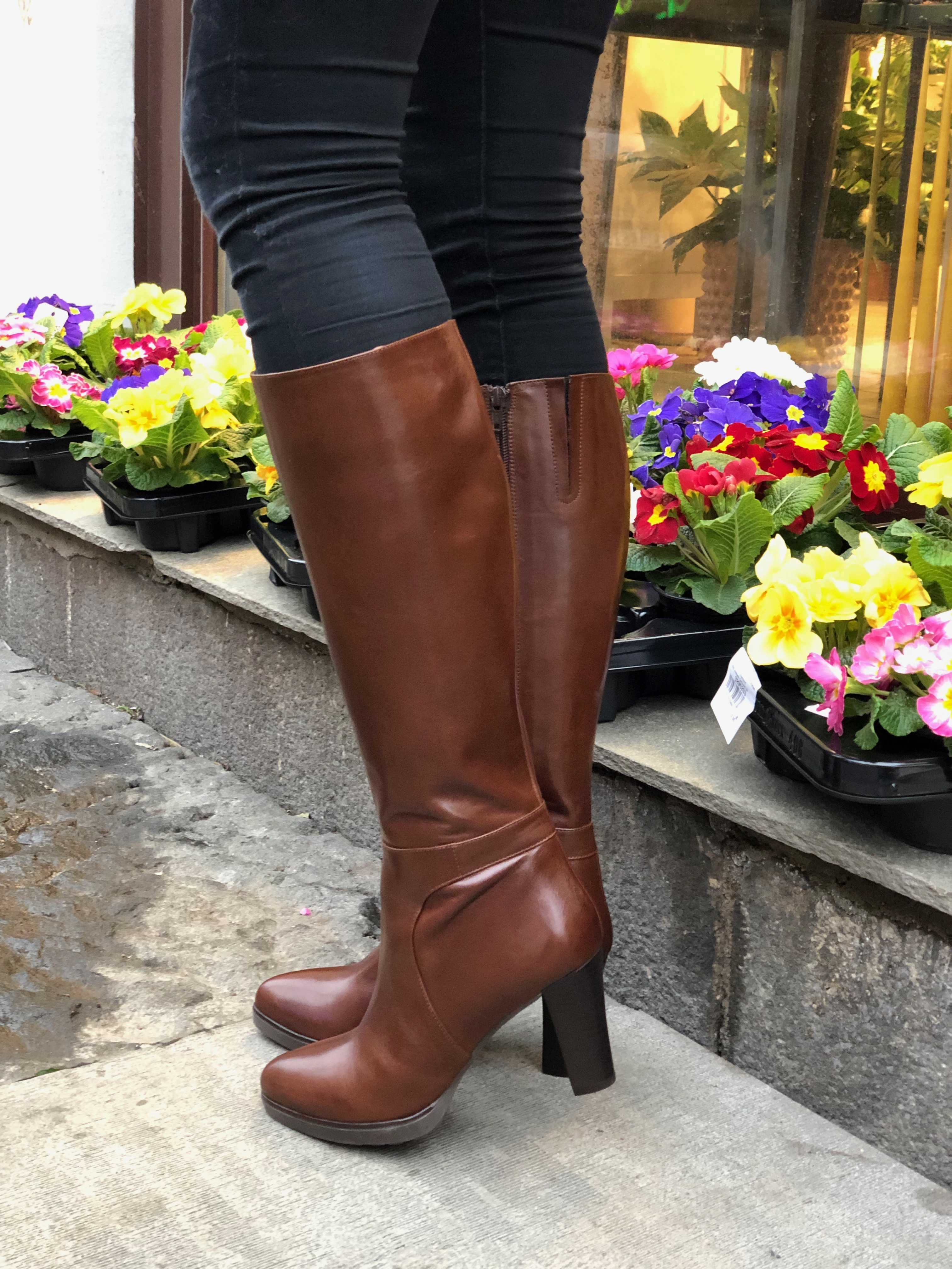 Nora brun støvlett