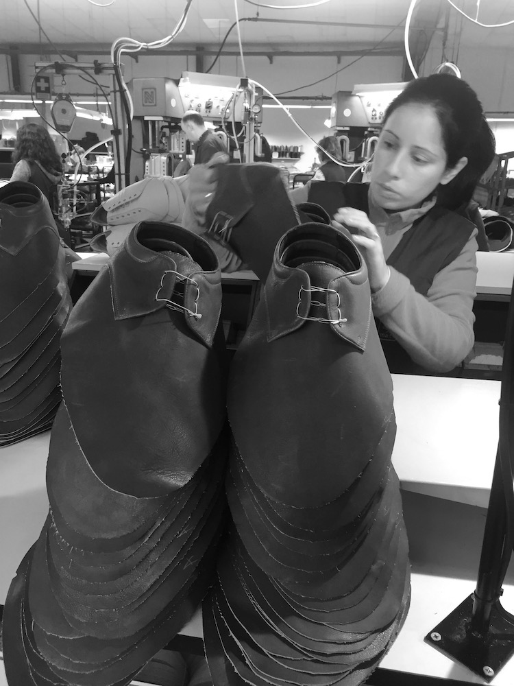 Sapatos herresko i produksjon