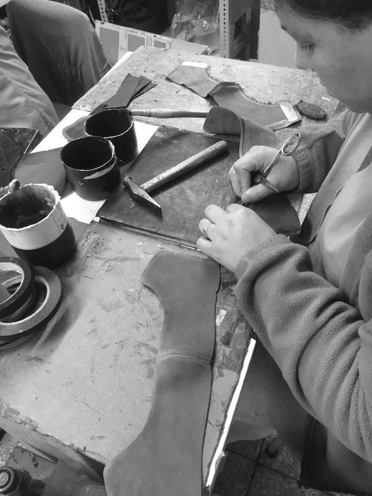 Sapatos damesko i produksjon