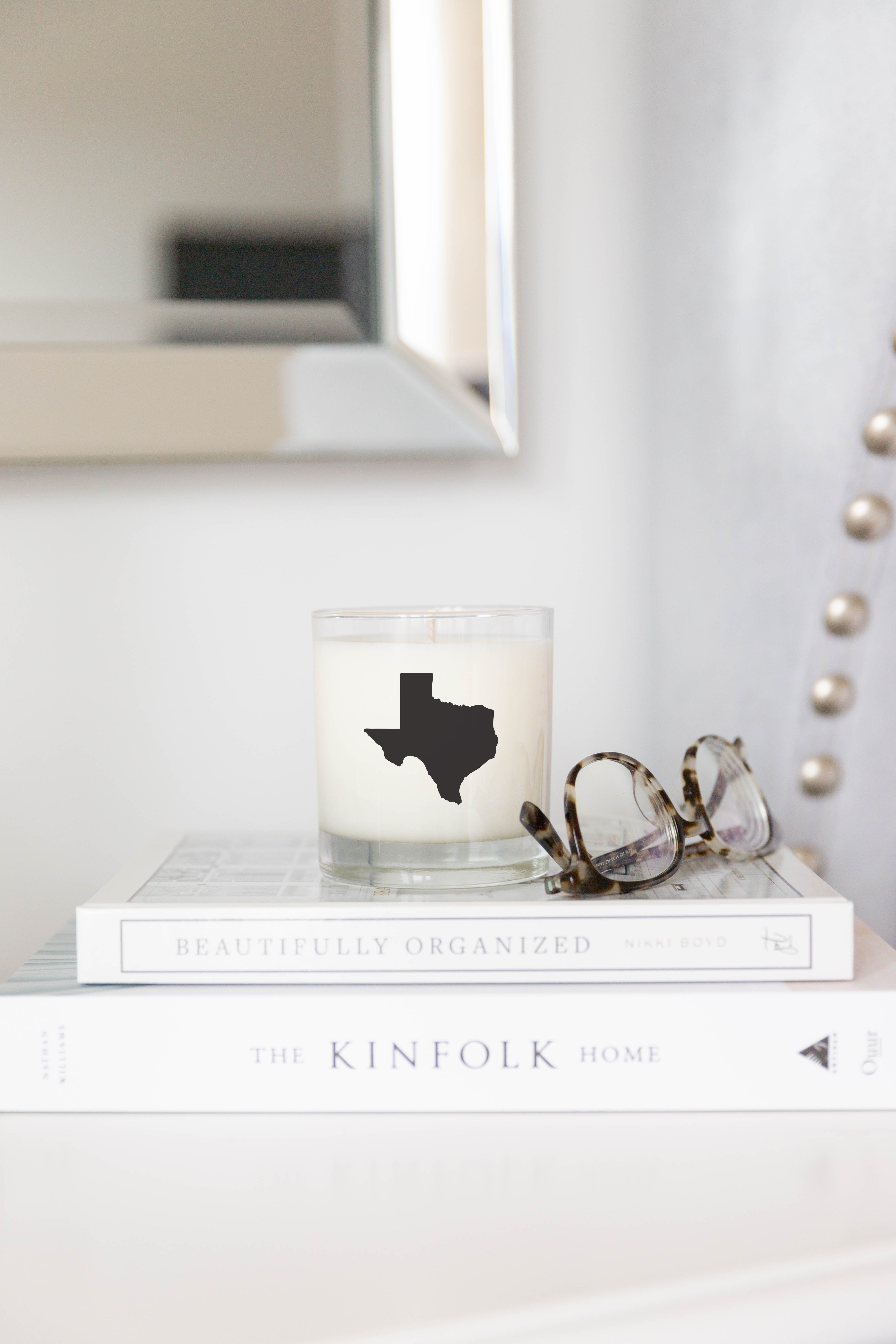 Texas State Scented Soy Candle Scripted Fragrance