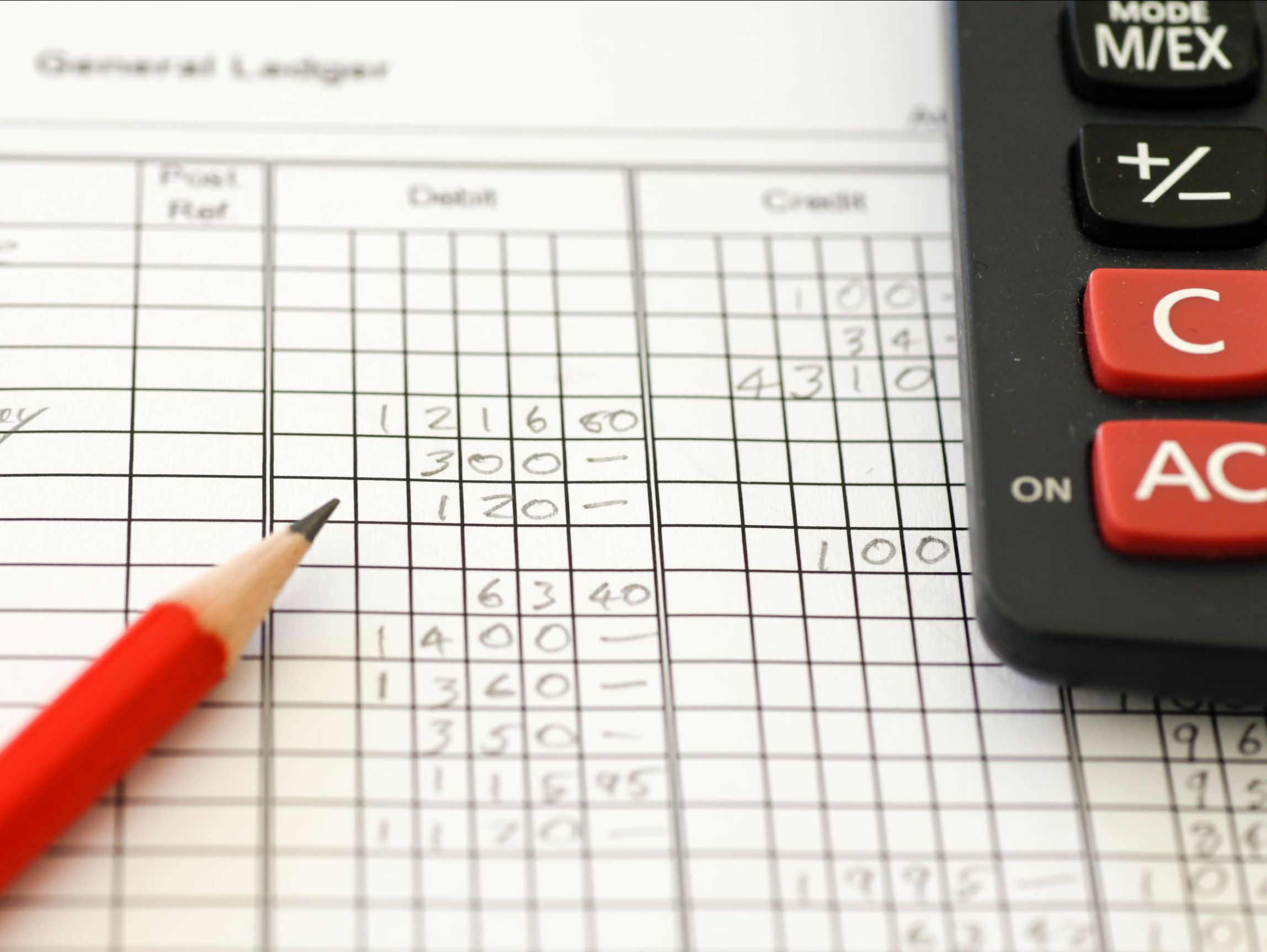 Bookkeeping Ledger or Checkbook