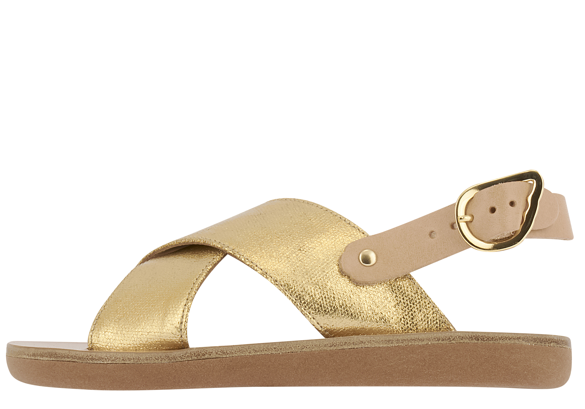 ancient greek sandals little maria gold