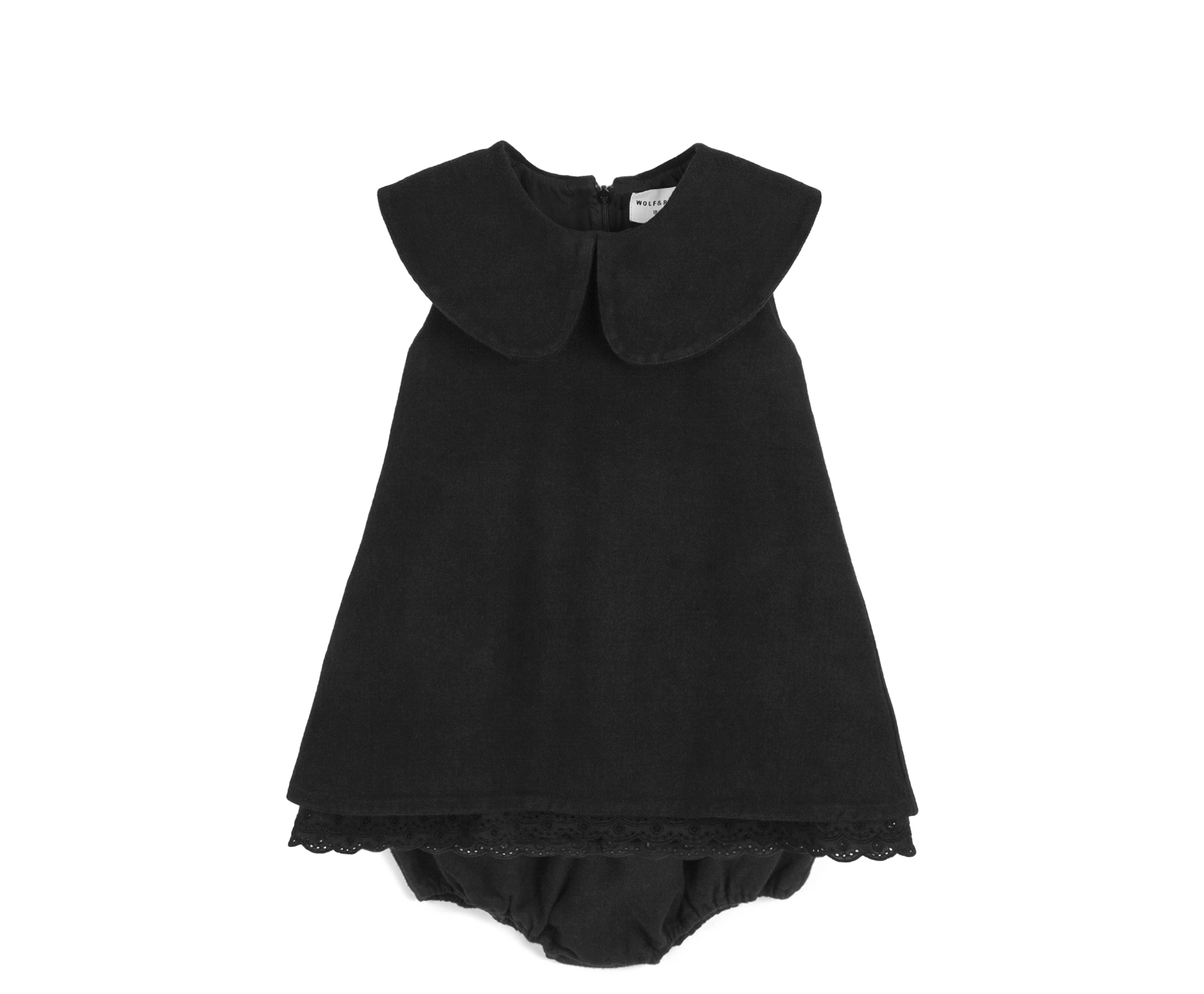 wolf & rita beatriz denim dress black