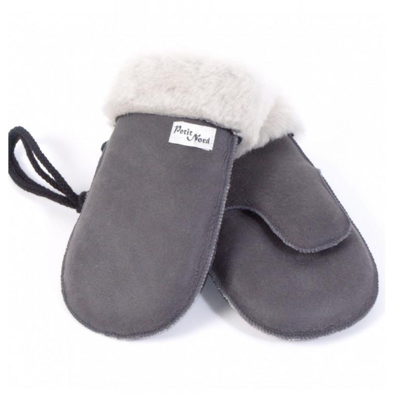 kodomo boston - petit nord shearling mittens for boys and girls