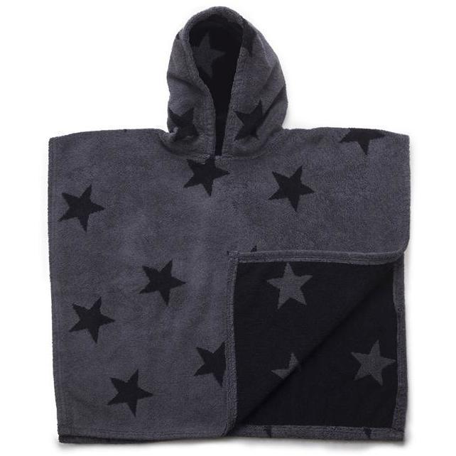 nununu star poncho dark grey