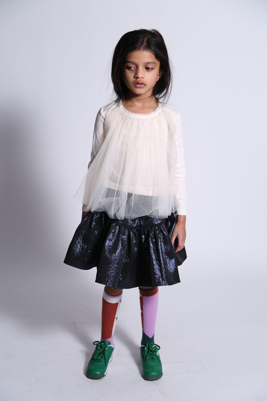 tia cibani classic tulle overlay t-shirt