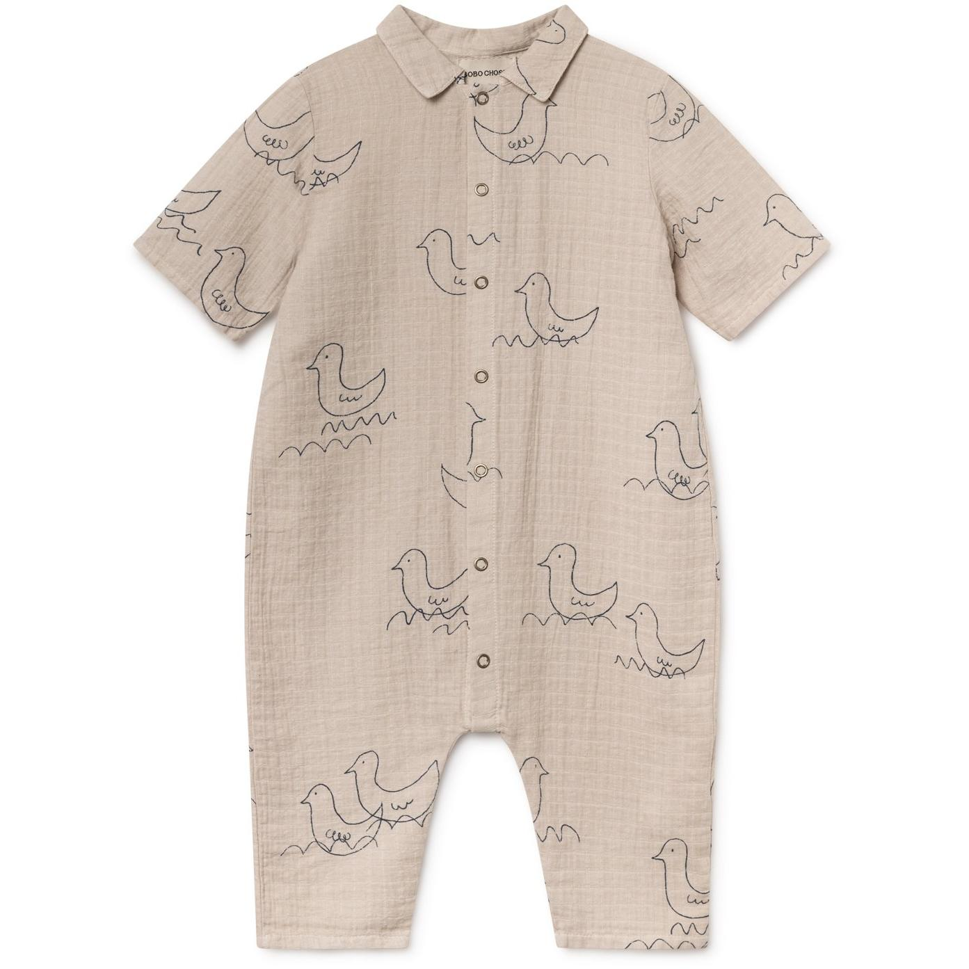 bobo choses baby geese buttons playsuit
