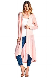 Long Duster in Blush Pink - Plus and Regular Sizes