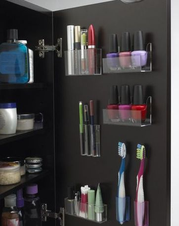 Stick Magnet Organizer in Bathroom