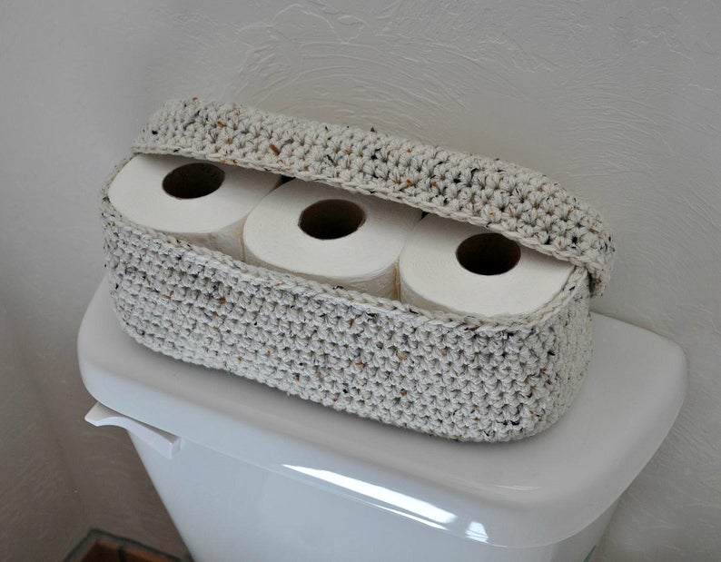 toilet roll in basket