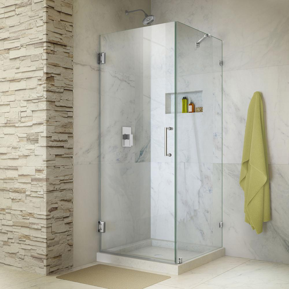 Typical corner shower that occupies least space