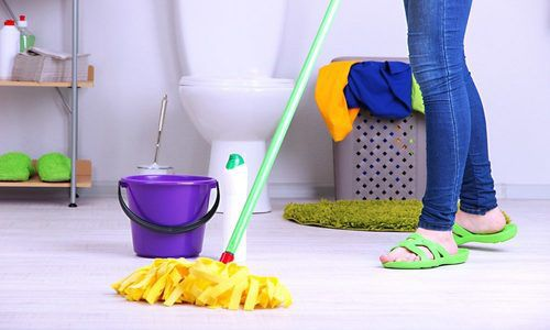 bathroom floor cleaning